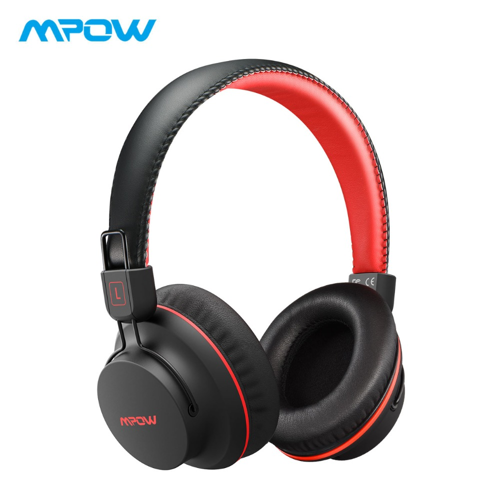 Mpow H1 Wireless Headphones HD HiFi Stereo Noise Cancelling Headphones With Microphone Over Ear Bluetooth Headset For iPhone cowin e7pro active noise cancelling bluetooth headphones wireless over ear stereo headset with microphone for phone