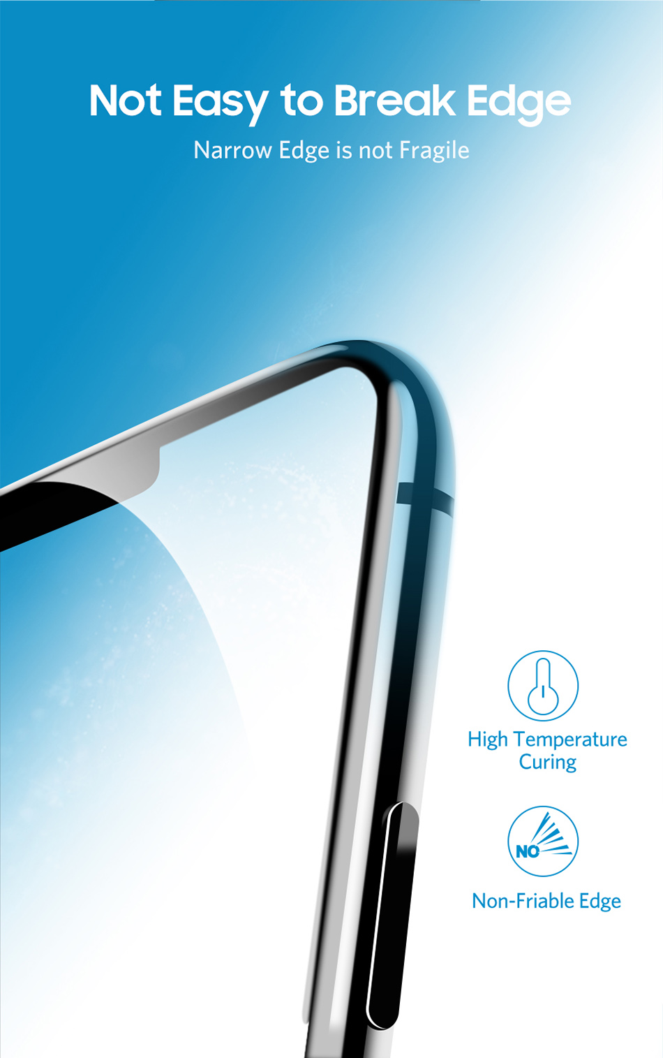 Benks Thin 0.15mm Tempered Glass For iPhone XS 5.8'' XS MAX 6.5'' XR 6.1HD Full Cover Screen Protector Anti Blue Ray Front Film (7)