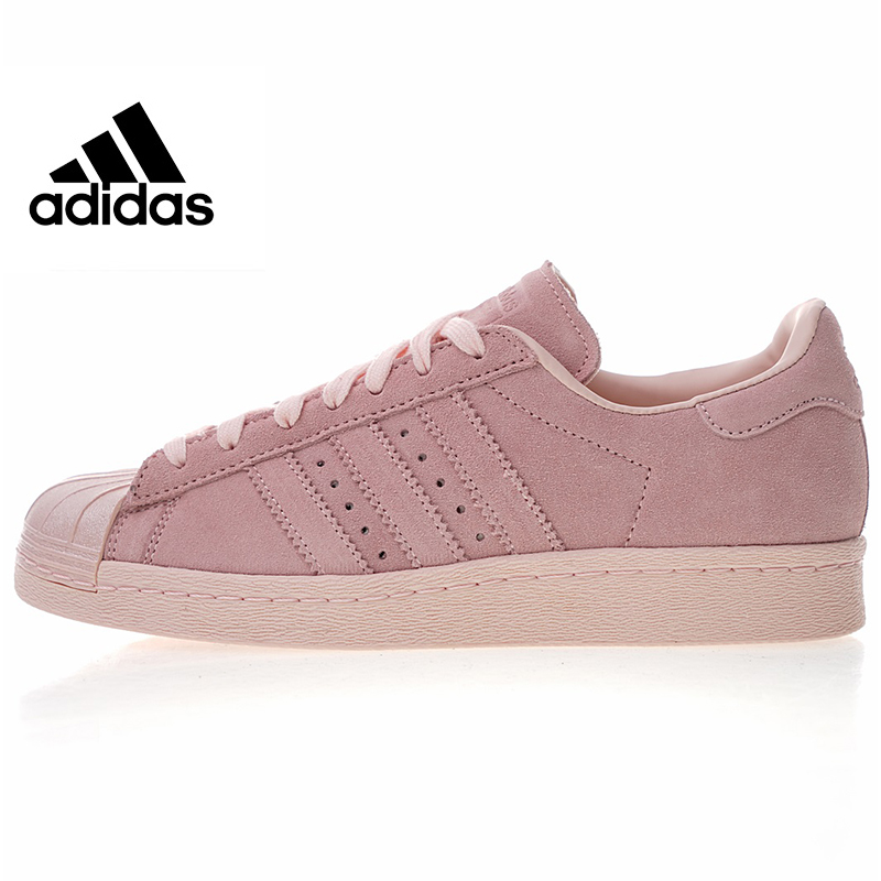 Adidas Original Superstar 80s Metal Women's Skateboarding Shoes, Pink, High Quality Outdoor Sports Breathable Non-slip CP9946 adidas кеды жен superstar 80s metal