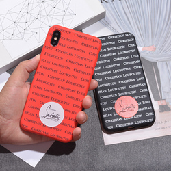 Luxury Brand Red Sneakers Bottom Phone Case For iPhone 7 Plus Cover Case iPhone 8 6 6s plus X XR XS MAX Girl Cute Case Coque 1