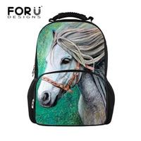 FORUDESIGNS Horse Men Backpacks Fashion feminine backpack Printing School Laptop Bagpack For Girls Boys sac a dos Shoulder Bags