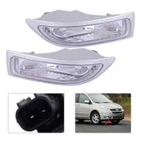 DWCX 2Pcs Car 2 Pin Right +Left Front Fog Lamp Light with Bulbs 81210 AE010 81220 AE010 312 2020L AF for TOYOTA SIENNA 2004 2005