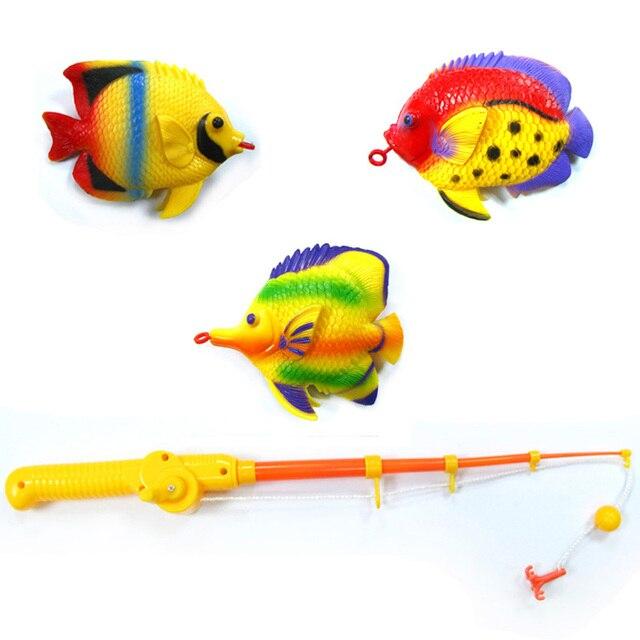 children fishing rod toy 4 rod 12 big fish for children bath game