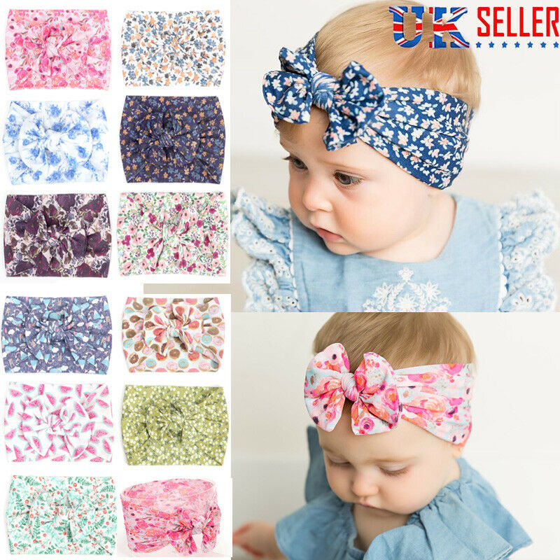 Knot  Baby Girl Hairband Elastic Hair Band Nylon Headband Bowknot Turban