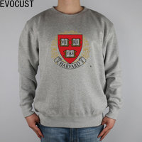HARVARD men Sweatshirts Thick Combed Cotton
