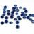 De Color zafiro 4-18mm Brillante Cubic Zirconia Piedra Redonda Forma Pointback Beads 3D Decoración Del Arte Del Clavo Suministros Para joyería DIY