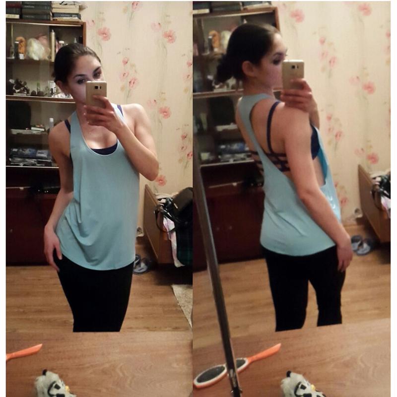 StarHonor Women Yoga Shirts Tops Fitness Sports Vest Sleeveless Shirts Tops Gym Clothes Shirt For Gym Camiseta Running Shirt 5