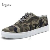 Leyou Canvas Camouflage Shoes Men Skate Shoes Autumn Men Sport Shoes Breathable Sneakers Laces