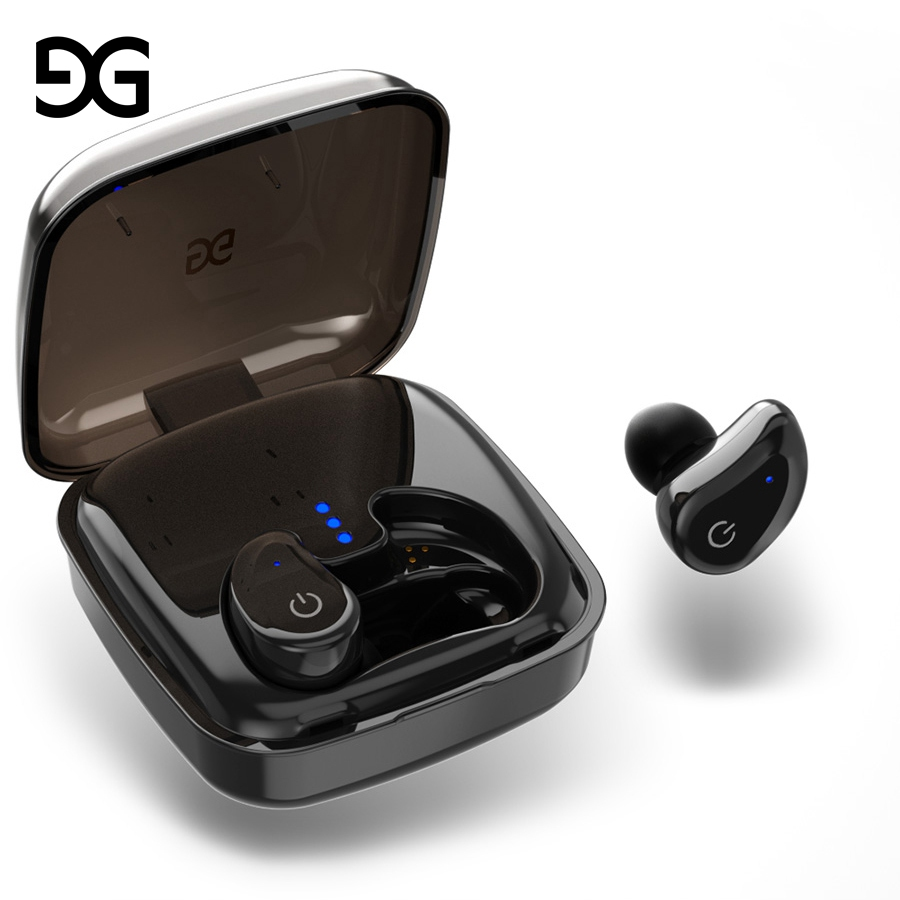 TWS Bluetooth earphone,GUSGU Mini Wireless Sports Earphone/Stereo-Ear Sweatproof Earphones with Noise Canceling Charging Case ...