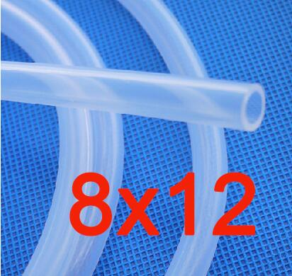 8x12mm Transparent Silicone Rubber Tube Medical Use Silicone Pipe