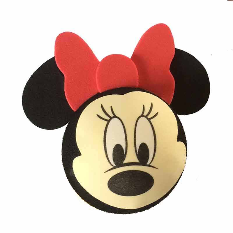 สีดำ Mickey หัว DS World Minnie เล็กๆน้อยๆน่ารักน่ารักการ์ตูนตุ๊กตาลูกเสาอากาศ EVA เสาอากาศ Toppers ตกแต่งหลังคาเครื่องประดับ
