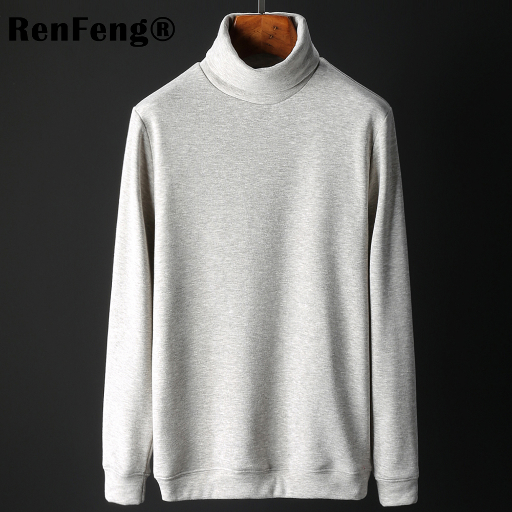 Men's Fashion Winter Men Slim thermo Long Sleeve T shirt Thicken Flannel Thermal Underwear Basic Tops Turtleneck Undershirt Male (12)