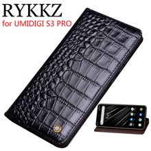 RYKKZ Genuine Leather Flip Case For UMIDIGI S3 PRO Cover Magnetic case F1 Cases Phone