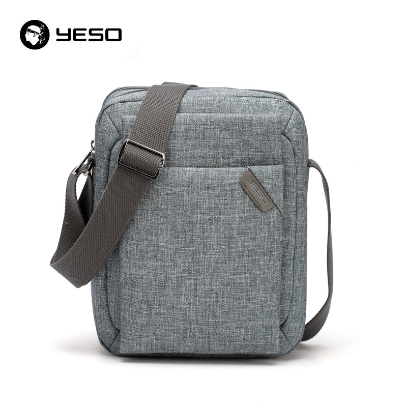 YESO Men Business Casual Messenger Bag 2018 New Design Crossbody Bag Waterproof Oxford Shoulder Bags Grey bag