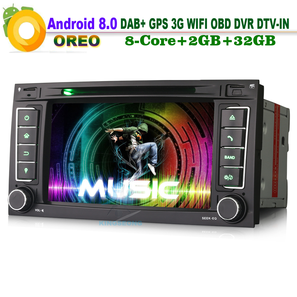 Android 8.0 Wifi Car GPS Navigation CD player Sat Navi Radio BT DAB+ DTV IN DVD Bluetooth Car Multimedia Player for VW TOUAREG