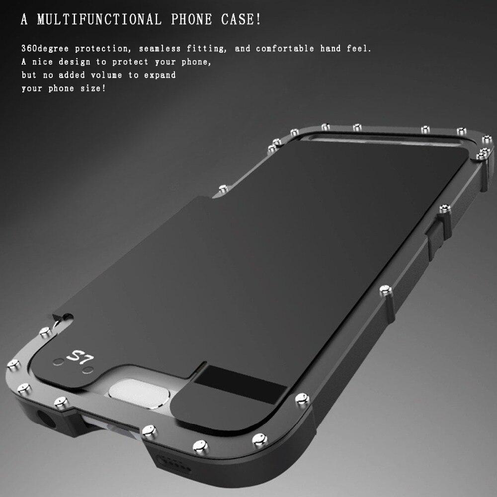 imágenes para Armadura de Lujo de Metal Cubierta de la Caja A Prueba de Golpes Hermético Al Polvo de Aluminio Del Caso Del Tirón Para Samsung Galaxy S7/S7 edge/S6 edge