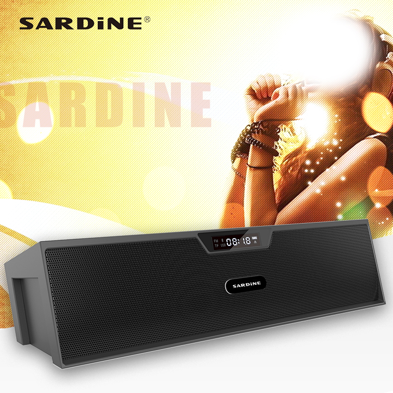 Sardine SDY019 portable bluetooth speaker support FM radio MP3 USB soundbar with LED screen 3D stereo surround for home theatre mymei best price new portable 3 5mm pillow speaker for mp3 mp4 cd ipod phone white