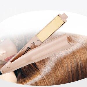 Image 5 - מקצועי 2 ב 1 טוויסט שיער מסתלסל ומיישר ברזל שיער מחליק שיער מסלסל רטוב & יבש שטוח ברזל שיער styler