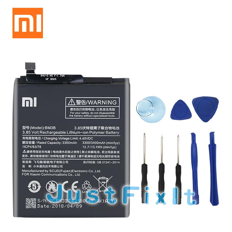 New For Xiaomi <font><b>Mi</b></font> <font><b>Mix</b></font> 2 <font><b>2S</b></font> II Mix2 Mix2S 2018 NEW 3400mAh BM3B <font><b>Battery</b></font> with glue sticker image
