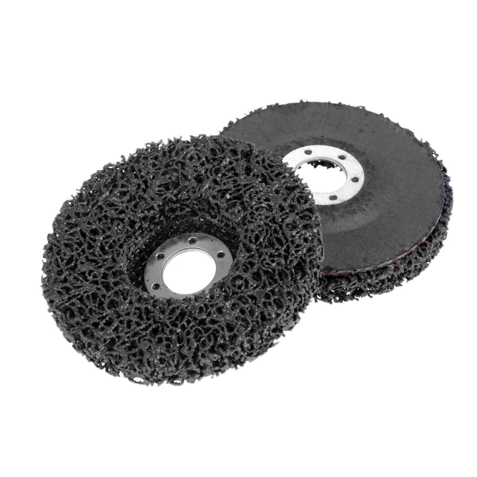 DRELD 1Pc 115*22mm Clean & Strip Coarse Grinding Disc Poly Strip Wheel Disc Paint Rust Removal Clean Grind Wheel Grinder Tools