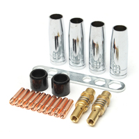 10pcs Conductive Nozzle 4pcs Welding Torch Nozzle 2pcs Insulating Sleeve Connecting Rod MB15 150 Part Kit