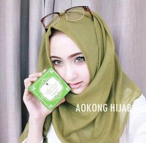 Image 4 - 10 pz/lotto delle donne solido maxi sciarpe hijab della stola oversize scialli islamici foulard testa avvolge morbido lungo musulmano viscosa pianura hijab