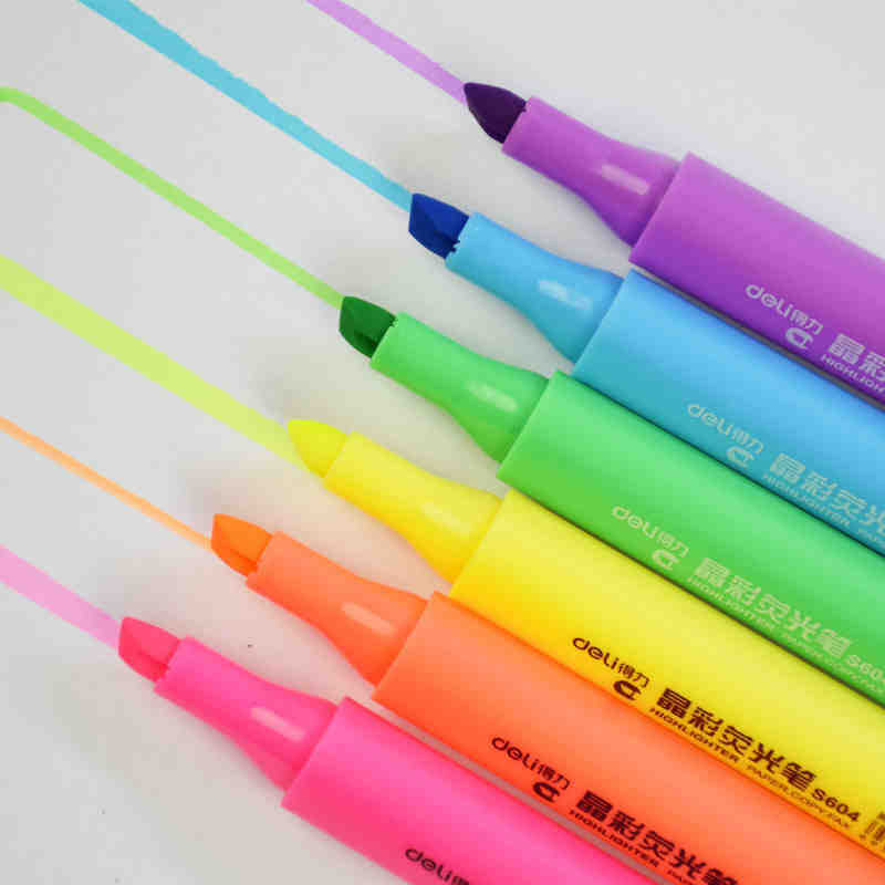 6 pcs/lot Cute Kawaii 6 Colors Mildliner Fluorescent Pen Crystal Highlighter For Drawing Painting Office School Supplies Markers