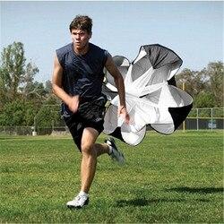 Música azul velocidade formação corrida arraste paraquedas equipamento de treinamento de futebol de fitness velocidade arraste rampa equipamento de treinamento físico