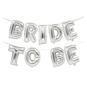 Image 5 - 웨딩 신부 샤워 16 inch 골드 실버 신부 편지 포일 풍선 다이아몬드 반지 풍선 암탉 파티 호의 장식