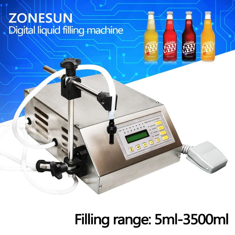 ZONESUN Digital Control Pump Drink Water Liquid Filling Machine GFK-160 5-3500ml numerical control liquid filling machine on the english control panel gfk 160 5 3500ml