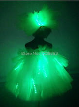 Free Shipping Stage Singer Led Dance Costume Women Led Light Suit Led Lights For Clothing