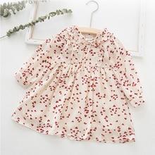 2019 New Spring Autumn Girls Dress Love Flower Print Long Sleeve Cute Princess Dress For Girl Cotton Birthday Party Kids Dresses цена