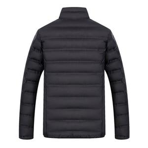 Image 4 - YIHUAHOO Winter Jacket Men Lightweight Windproof Casual Warm Park Jacket Winter Coat Cotton Padded Windbreaker Jacket Men JA1611