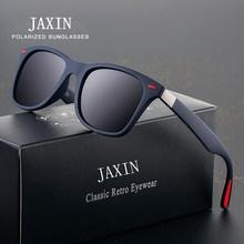 JAXIN Classic Polarized Square Sunglasses Men Retro Wild Black Sun Glasses Ms. Brand Design Travel Driving Eyewear okulary UV400