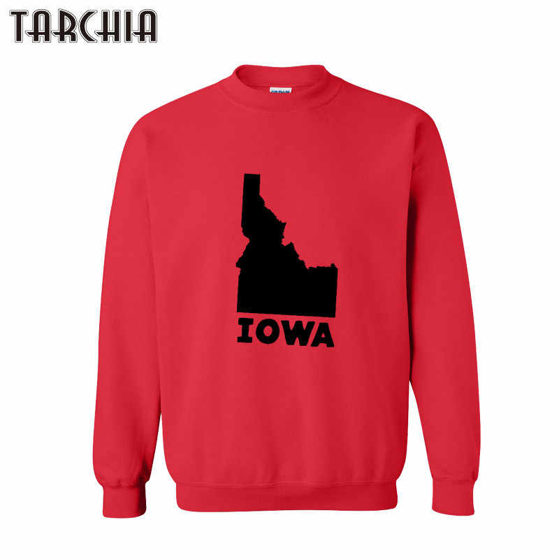TARCHIA Men's Hoody Sweatshirt Spring Casual Slim Fit Hoodies Mens IOWA Print Tracksuit Baseball Sweatsuit Outwear Pullovers