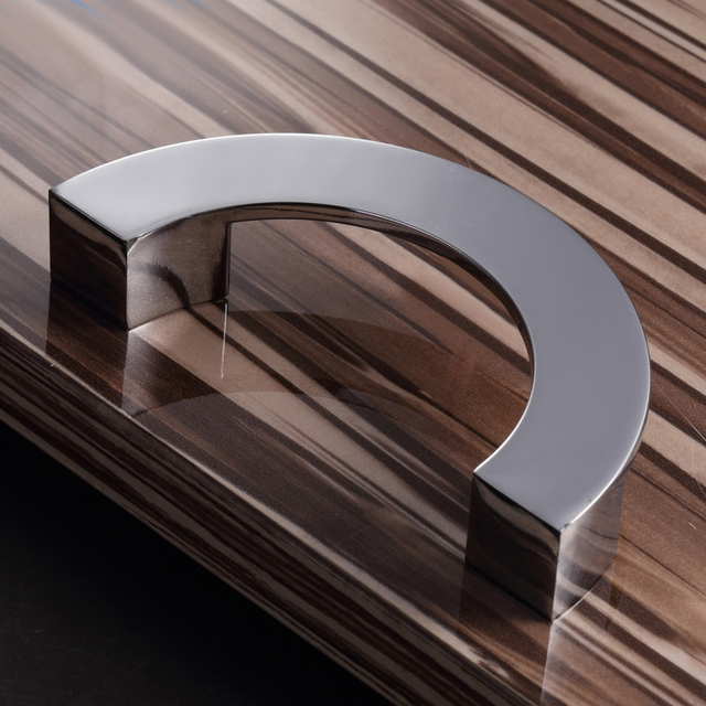 Modern Kitchen Cabinet Door Handle Drawer Wardrobe Knob Furniture Handles  Semicircle Metal Pull