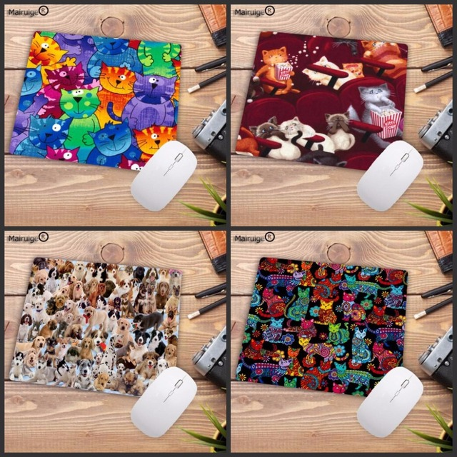 4f9a2c255d49 Mairuige Cute Cat Dog Animal Rubber Gaming Mouse Pad Print Laptop Mouse Mat  Small Size Mouse Notebook Computer Gift Mousepad-in Mouse Pads from ...