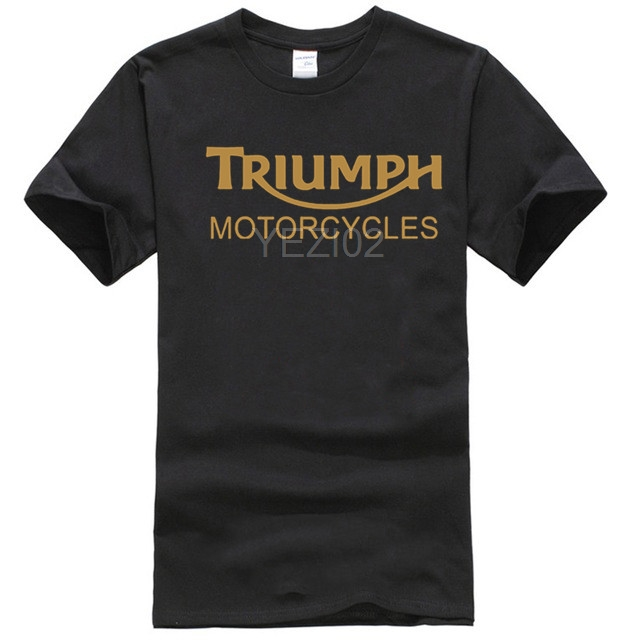 Funny Men Cotton T Shirt Classic TRIUMPH MOTORCYCLE T Shirt Good Quality T-shirt Top Tees New Summer Camisetas Masculina