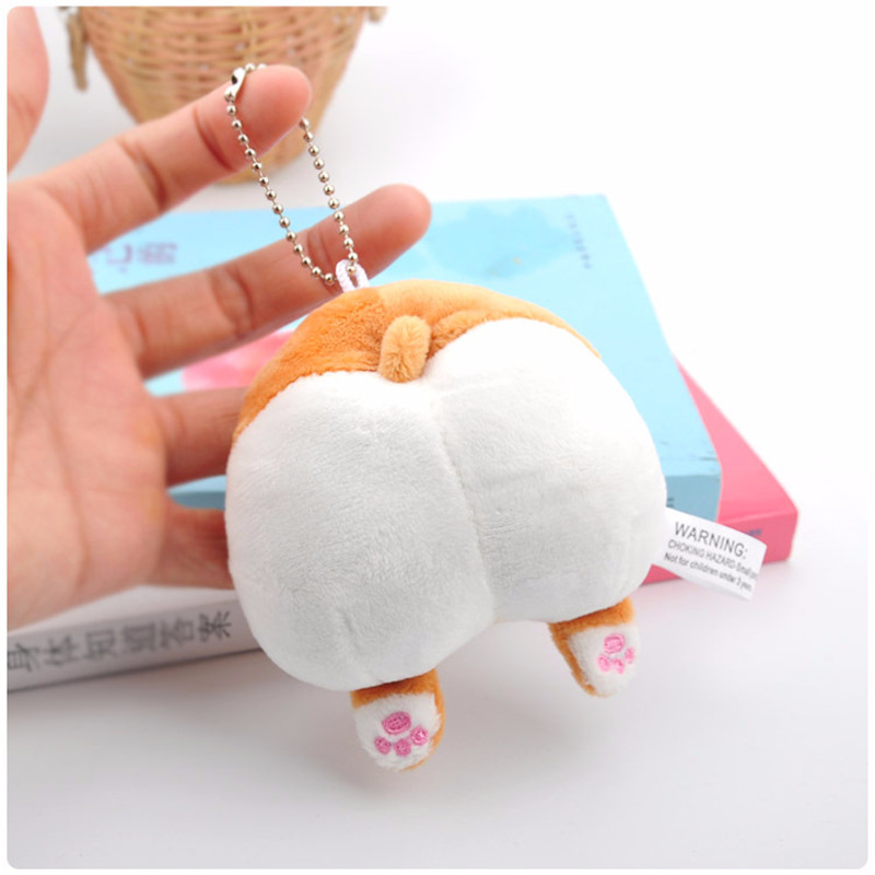 Cute Corgi Cute Butt Plush Toy Small Pendant Novelty Dog Ass Bag Pendant Creative Gift Trick