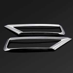 Image 4 - 2 x Car Front Fog Light Lamp Cover Trim ABS Chrome Decoration Sticker Car Styling for Volkswagen VW Tiguan Mk2 2016 2017 2018