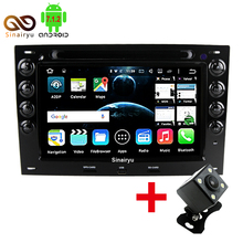 Android 7.1 2GB RAM 1024*600 2 Din Car DVD Player For Renault Megane 2 ii 2003-2010 Radio WiFi DVR GPS Navigation Radio Audio