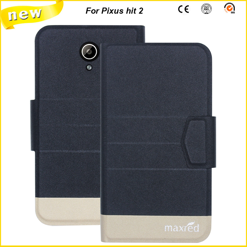 5 Colors Hot! Pixus hit 2 Case, High quality Full Flip Fashion Customize Leather Exclusive 100% suitable Case For Pixus hit 2