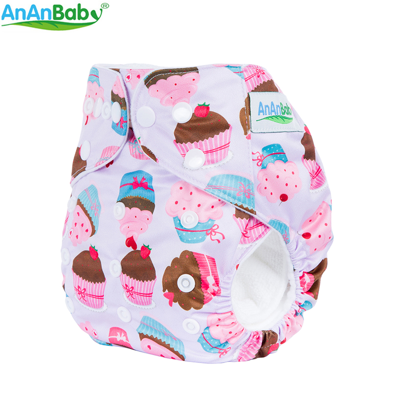 AnAnBaby 20pcs Per Lot Choose Freely Cartoon Baby Prints Baby Diapers Reusable Pocket Cloth Diapers Without