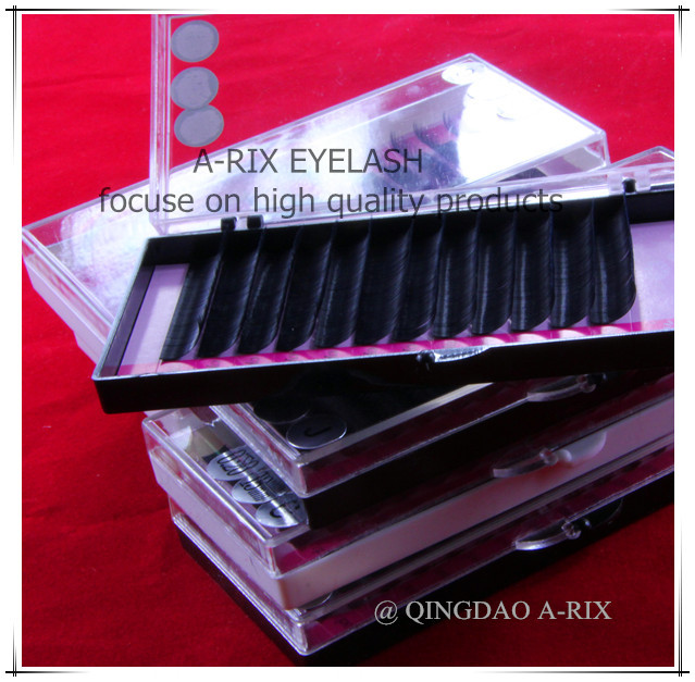0.20*J/BC/D 1pc/lot 8-15mm length popular korean natural soft high quality A-RIX mink silk eyelash extension individual lash