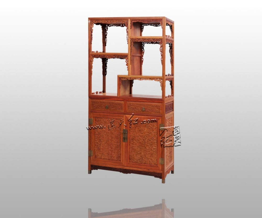 Rosewood Curio Storage Cabinets China Antique Home Furniture Filing Magazine Racks Solid Wood Cupboard Multi Function Bookcase In Living Room From