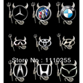 3D Car Stickers Devil Style Sliver Sticker Funny Car Decoration for Volkswagen Nissan Benz Toyota Chevrolet bmw e46 e39 renault