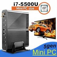 Barebone PC NUC Intel Core I7 5500U Graphique HD 5500 Sans Ventilateur Mini PC Windows 2