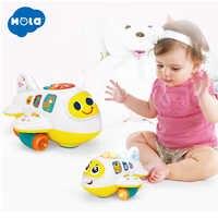 HOLA 6103 bébé jouets avion électronique jouet avec lumières et musique enfants apprentissage précoce jouet éducatif pour les enfants de 12 mois +