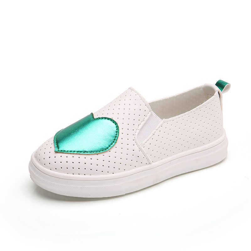 Spring Autumn Children Shoes Casual Fashion Love Girls Princess Baby Flat Heel Sneakers Kids Shoes For Girls Breathable Loafers