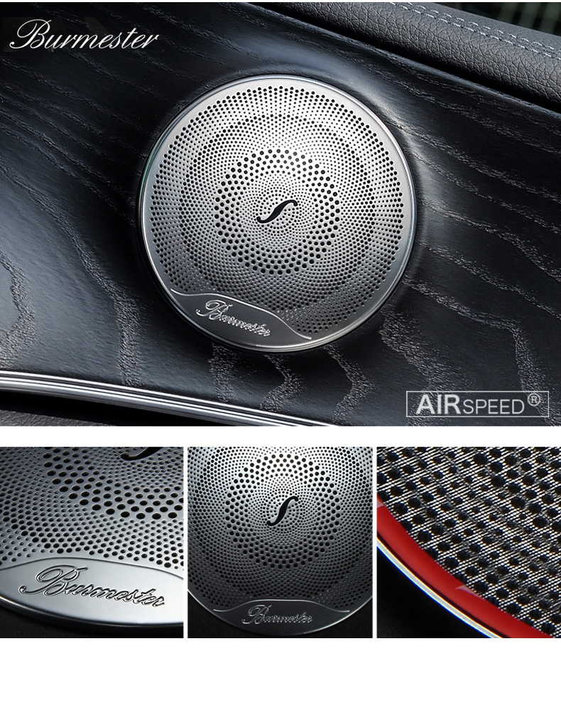 Airspeed for Mercedes Benz W205 W213 GlC AMG Accessories for Mercedes GLC Benz W205 W213 Interior Trim Door Audio Speaker Cover (2)